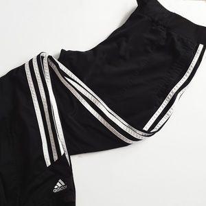 Adidas oversized black track pants medium
